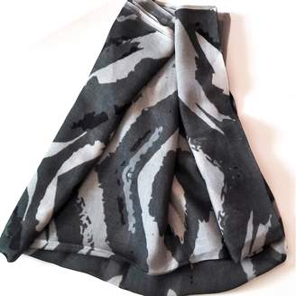 ABStudio Abramovich Patricia - Grey tiger Long Modal Scarf