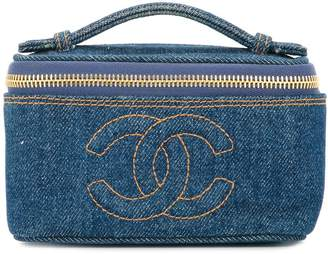 Chanel Pre-Owned denim CC logo cosmetic handbag