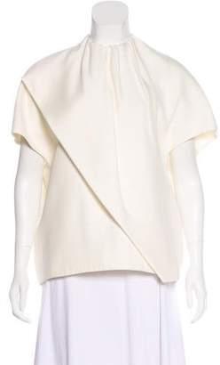 Celine Draped Silk-Blend Blouse