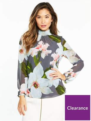 Ted Baker Tily Chatsworth Bloom Ruched Blouse
