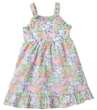 Penelope Mack Ruffled Floral Print Sundress (Toddler Girls)