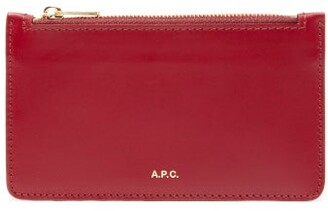 A.P.C. Willow Foiled Logo Wallet - Womens - Red