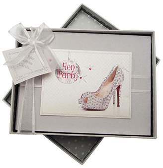 white cotton cards Hen Party Photo Album (Glitter Ball/Sparkly Shoe)