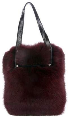 Pre Owned At Therealreal Kieselstein Cord Barry Fox Fur Tote