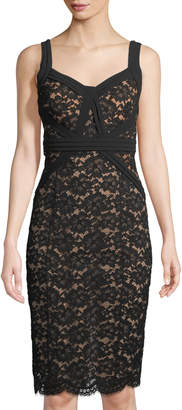 Michael Kors Gardenia Lace Sheath Dress