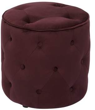Office Star AVE-SIX by Products Curves Tufted Round Ottoman