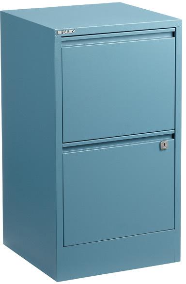 Bisley 2-Drawer File Cabinet Blue