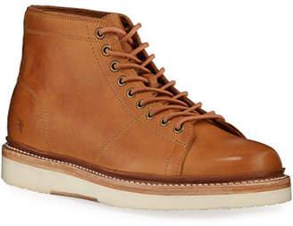 Frye Men's Bryant Leather Combat Boots