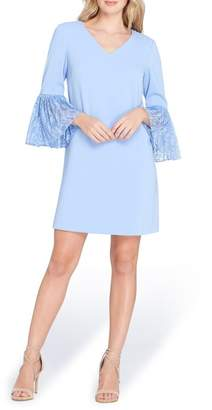 Tahari Bell Sleeve Shift Dress