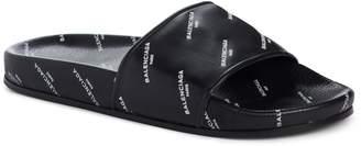 Balenciaga Logo Print Slide Sandal