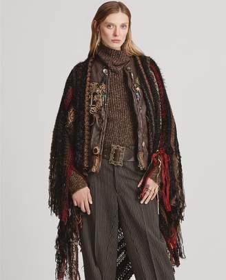 Ralph Lauren Wool-Blend Blanket Poncho