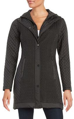 Jones New York Quilted Zip-Front Jacket $260 thestylecure.com