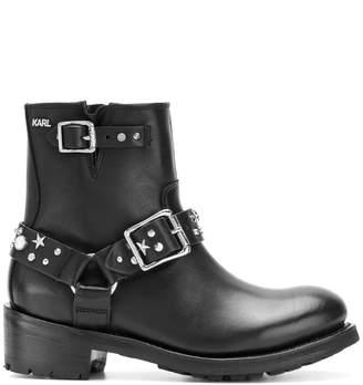 Karl Lagerfeld Paris studded boots
