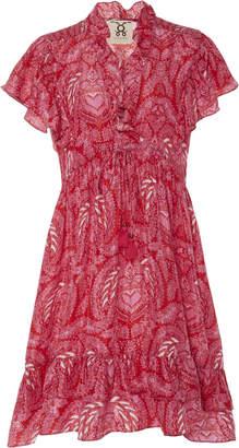 Figue Denissa Printed Silk Mini Dress