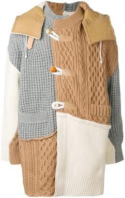 Sacai patchwork coat