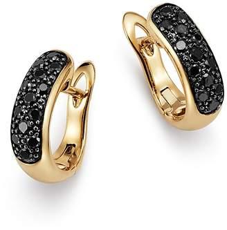 Bloomingdale's Black Diamond Huggie Earrings in 14K Yellow Gold, 0.33 ct. t.w. - 100% Exclusive