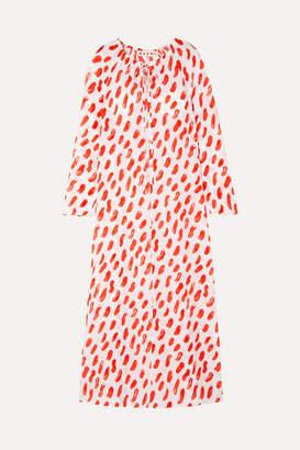 Marni Printed Silk-georgette Maxi Dress - Red