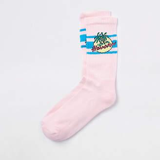 River Island Pink Havana print socks