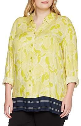 Ulla Popken Women's Hemdbluse Mit Floralem Print Und Streifen Blouse,UK 34