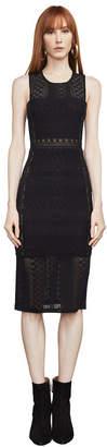 BCBGMAXAZRIA Sita Geometric Lace Dress