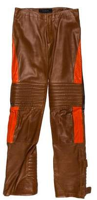 Gucci 2000 Leather Moto Pants