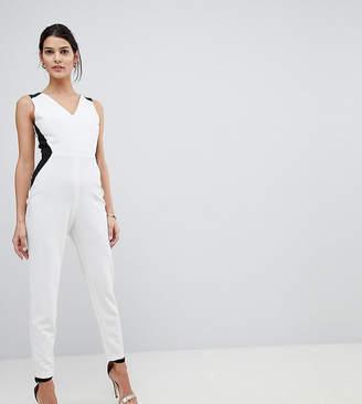 Vesper Tailored Jumpsuit With Contrast Sculpt Panels