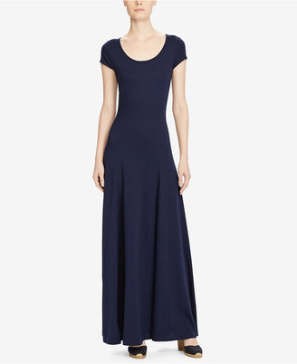 Lauren Ralph Lauren Jersey Scoop Neck Maxidress $99.50 thestylecure.com