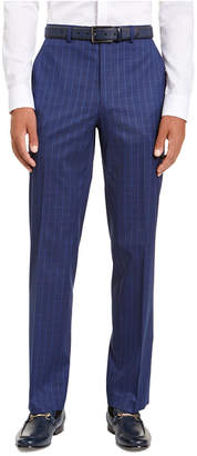 Sean John Men Classic-Fit Stretch Blue Houndstooth Windowpane Suit Separate Pants
