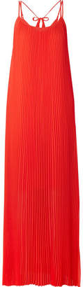 By Malene Birger Obbo Pleated Crepe Maxi Dress - Orange