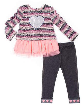 Little Lass Not Applicable 2-pc. Legging Set-Baby Girls
