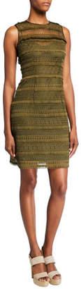 Elie Tahari Renee Sleeveless Lace Dress