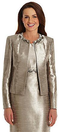 Kasper Textured Shimmer Jacket