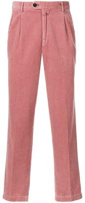 Closed corduroy fitted trousers