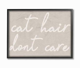"""Stupell Industries Cat Hair Don't Care Framed Giclee Art, 11"""" x 14"""""""