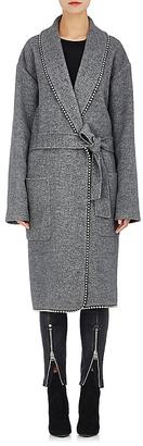 Alexander Wang Women's Embellished Brushed Twill Robe Coat