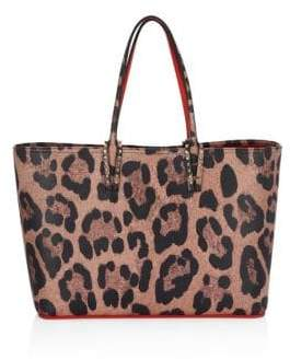 Christian Louboutin Leopard Leather Tote