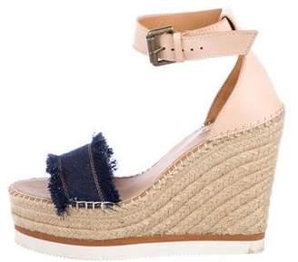 See by Chloe Denim Platform Sandals