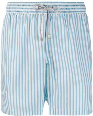 Bluemint Sky Blue Line print swim shorts