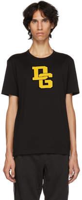 Dolce & Gabbana Black Varsity Logo T-Shirt