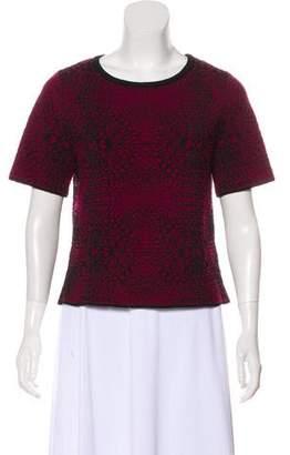 Ronny Kobo Printed Knit Top