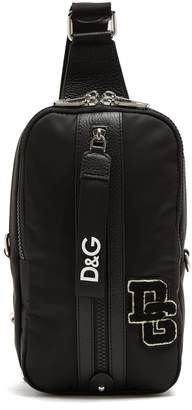 Dolce & Gabbana College logo patch one-strap backpack