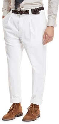 Brunello Cucinelli Single-Pleat Leisure Trouser Pants