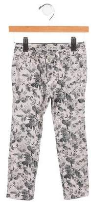 J Brand Girls' Floral Print Skinny Jeans