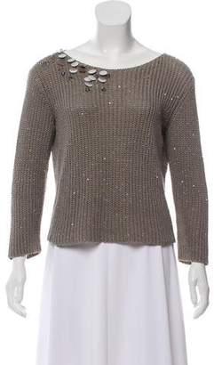 Fabiana Filippi Embellished Scoop Neck Sweater