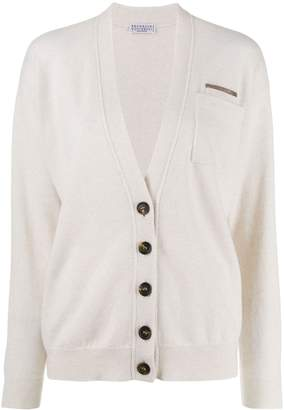 Brunello Cucinelli pocket trim cardigan