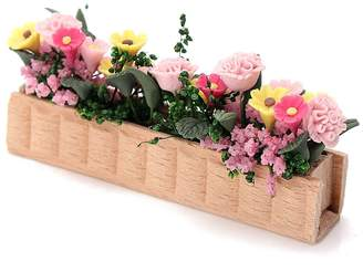 Mini A Ture HITSAN 1:12 Doll House Aertificial Miniature Clay Flower Plant Pot DIY Craft Ornament Garden Decor One Piece