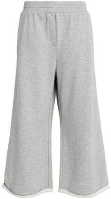 Alexander Wang Cropped Cotton-Blend Jersey Wide-Leg Pants