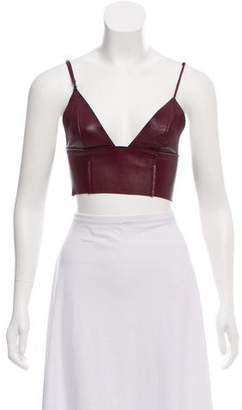 Alexander Wang Leather Crop Top