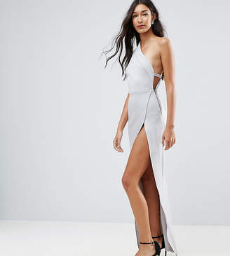 Asos Tall TALL One Shoulder Maxi Dress with Exposed Zip