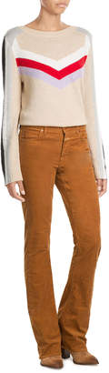 Closed Stretch Cotton Flared Cords
